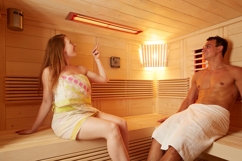 sauna kombiniert mit infrarotw rme saunaundmehr. Black Bedroom Furniture Sets. Home Design Ideas
